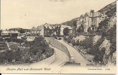 Very Nice Old Postcard - Hendre Hall &  Barmouth West - Merionethshire C.1910