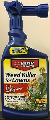Bayer Advanced Weed Killer for Lawns - 32-ounces - Hose End Spray - NEW