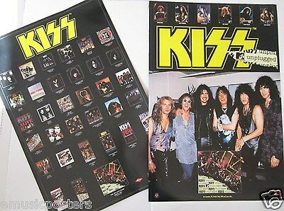 """KISS """"UNPLUGGED"""" 2-SIDED U.S. PROMO POSTER -Gene, Paul, Peter, Ace, Eric & Bruce"""