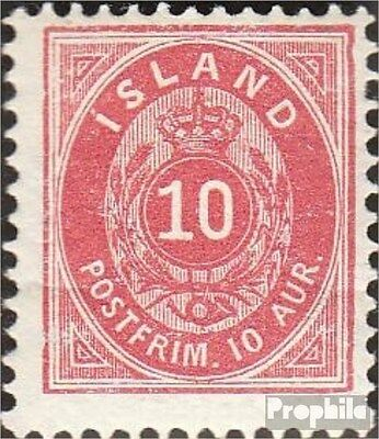 Iceland 8B fine used / cancelled 1876 Paragraph with Crown
