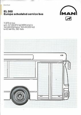 Bus Brochure - MAN - EL 202 - Europa Scheduled Service  (BU54)