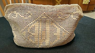 Amazing Vintage Hand Crocheted Appliance Toaster Cover w Monogram - MUST SEE!