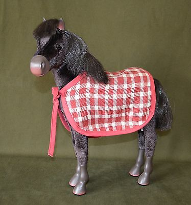 American Girl Doll Felicity Patriot Foal Horse With Plaid Blanket