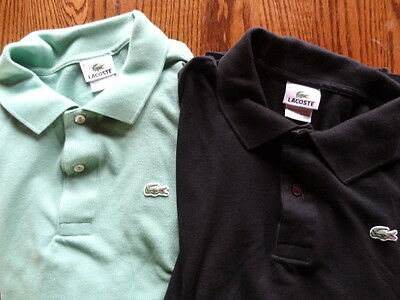 Lacoste Shirts size 8 - Black & Green - 100% Cotton Nice Vintage Look