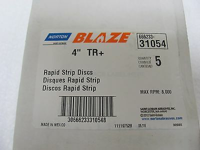 "Norton Blaze Rapid Strip 4"" 5PK - NOR 31054"