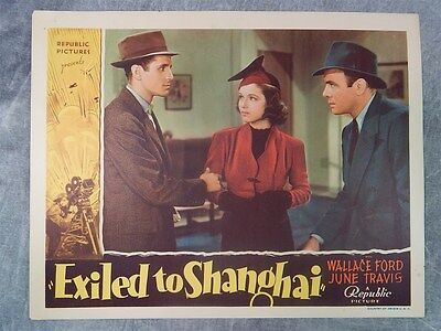 1937 Exiled To Shanghi LOBBY CARD Wallace Ford ~ NICE!!!