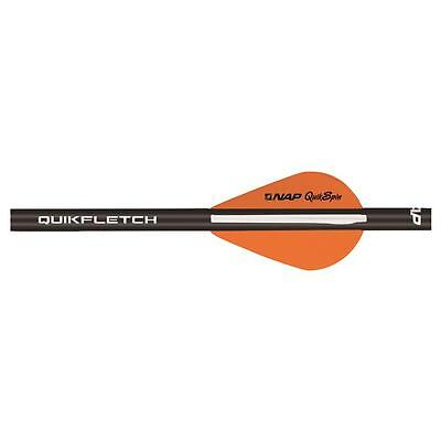 NAP Quikfletch w/Quikspin VaneBlack Tube White/Orange 6 pk.