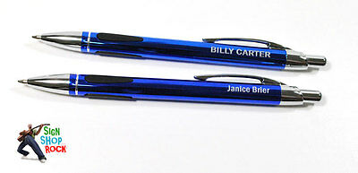 Personalized Blue Pens With Free Engraving & Shipping!