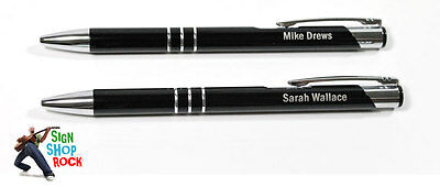 Personalized Black Pens With Free Engraving & Shipping!