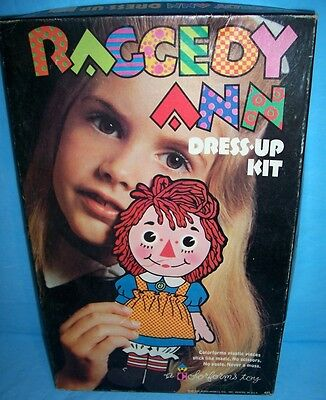 Raggedy Ann Dress Up Kit  Colorforms 1967 EXIB No Res