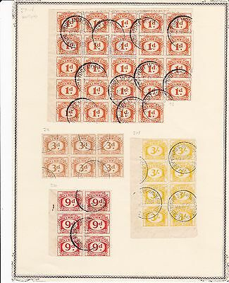 Papua and New Guinea Used Blocks of Early Postage Dues