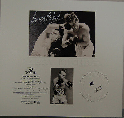 Barry Michael Signed Limited Edition The Boxers Print With Certificate Ali