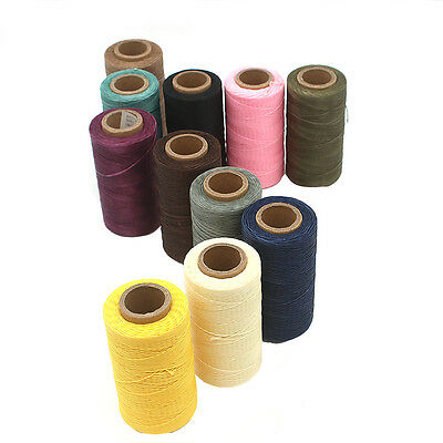 260M x1mm Thick (150D) Leather Sewing Waxed Coarse Thread Spool Polyester Fines