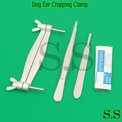 Pitbull Dog Ear Cropping Clamp Guide Tools Kit, Veterinary Instruments VT-101
