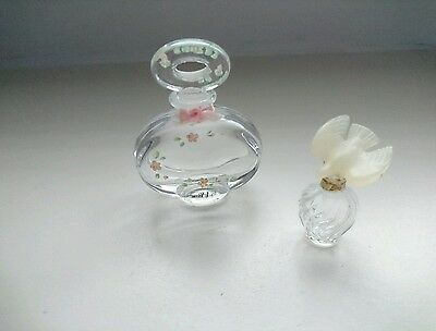 Vintage perfume bottles  small Schmid and miniature le air du temps
