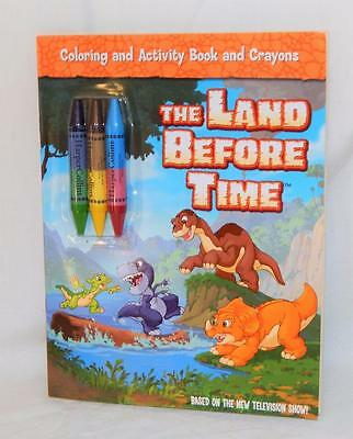The Land Before Time: Coloring and Activity Book + Crayons NEW VHTF OOP 2007