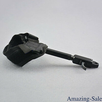 Archery Caliper Trigger Release Aids Wrist Buckle Strap Compound Bow Shooting
