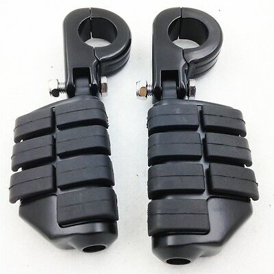 "E. Front P-Clamps 1 1/4"" Foot Pegs For SUZUKI VL VZ M800 C800 M109R M90 S50 C90"