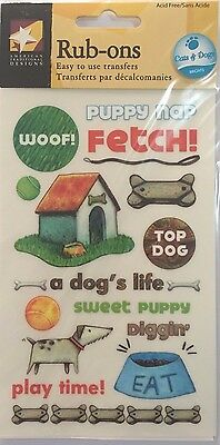 American Traditional Designs Rub Ons: Dog's Life **BNIP**