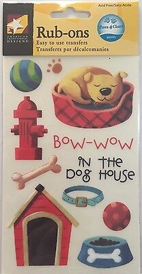 American Traditional Designs Rub Ons: Paws & Claws Dog **BNIP**