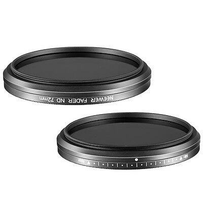Neewer 72mm ND Fader Neutral Density Adjustable Variable Filter (ND2 to ND400)