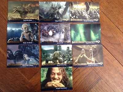 10,lord Of The Rings,collectors Cards, Return Of The King,topps
