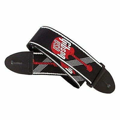 Gibson Gear 2 Inch Woven Guitar Strap with Logo - Red