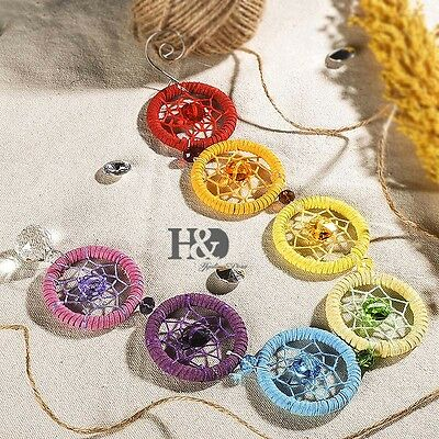 w'zColourful Hanging Dream Suncatcher Crystal Ball Prisms Rainbow Feng Shui Pend