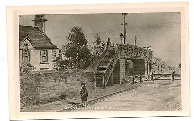 Old Postcard-OLD RAILWAY CROSSING-SHORE ROAD-UK-Not Sure of Location-Have A Look