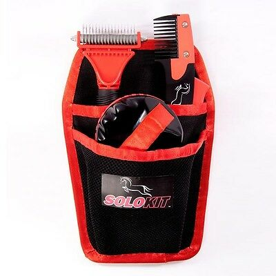 Solo Grooming Kit Complete Set COMB, RAKE, BRUSH & POUCH + Worldwide Shipping