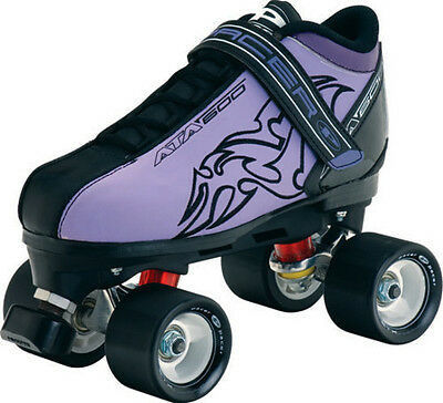 NEW! PACER ATA 600 PURPLE SPEED QUAD SKATES WOMENS sz 9 ROLLER ABEC 7 MENS 8