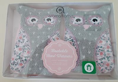 Boots Aroma Home Pair of Heatable Reuseable Owl Bird Hand Warmers - New in Box