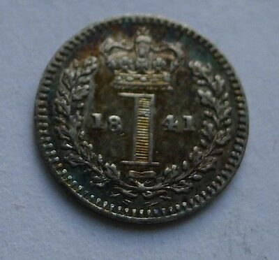 Maundy Penny Victoria 1841 .925 Silver