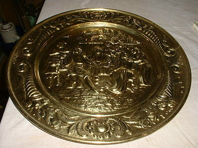 Nice Vintage Copper Or Brass Wall Plaque