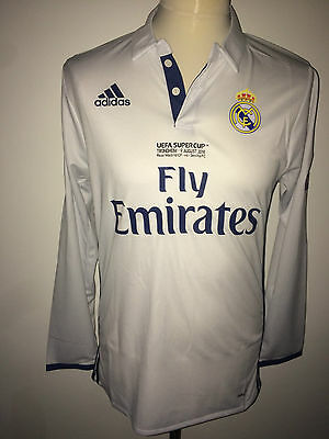 Sergio Ramos Real Madrid Supercup 2016 match worn issued shirt jersey Spain