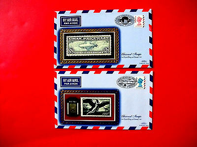 """Set of 2 Benham Silks First Day of Issue Covers 2003 """"Universal Stamps"""" issue"""