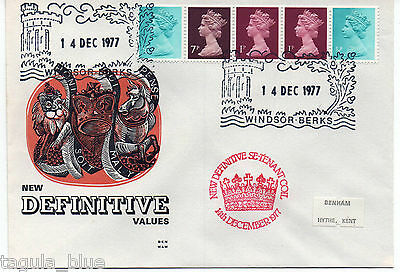 14-12-1977 Early Benham Definitive Se-tenant Coil First Day Cover