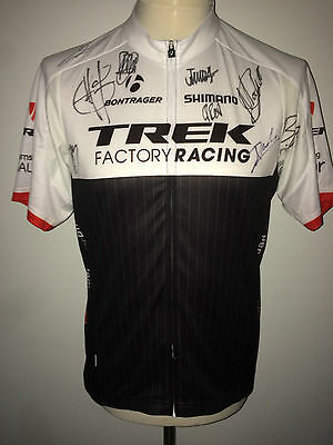Trek Factory Racing Signed Cycling Jersey Tour de France 2015 Mollema Cancellara