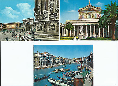 3 Colour Postcards of Views of Italy