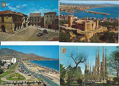 4 Colour Postcards of Views of Spain
