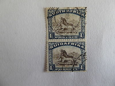 S Africa 1932  shiling fine used pair cat £60