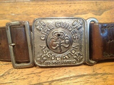 Vintage Girl Guides Association Belt With Girl Guide Whistle