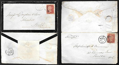 Great Britain 1866/7 Envelope Which Has Been Used Twice - Unusual