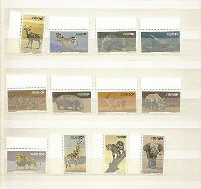 South West Africa Animals Scott 447-63 Mnh Short Set Minus A&b Scv $10