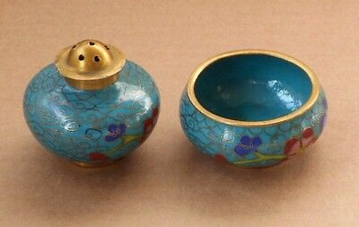 Two Chinese Cloisonne Condiments