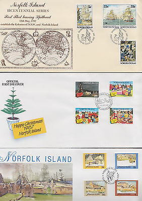 047492 Norfolk Island  FDC First Day Cover`s - Lot