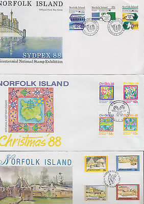 047494 Norfolk Island  FDC First Day Cover`s - Lot