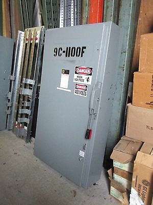 Square D Non-Fusible Safety Switch 3 Ph, 600A, 600V Cat# HU366 ... WHS-1023