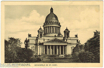 Vintage Russian postcard St.Isaac Cathedral in St.Petersburg