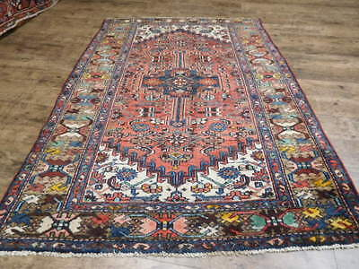 Ca1930s VG DY ANTIQUE PERSIAN  VISS HERIZ SERAPI 4.2x6.2 ESTATE SALE RUG